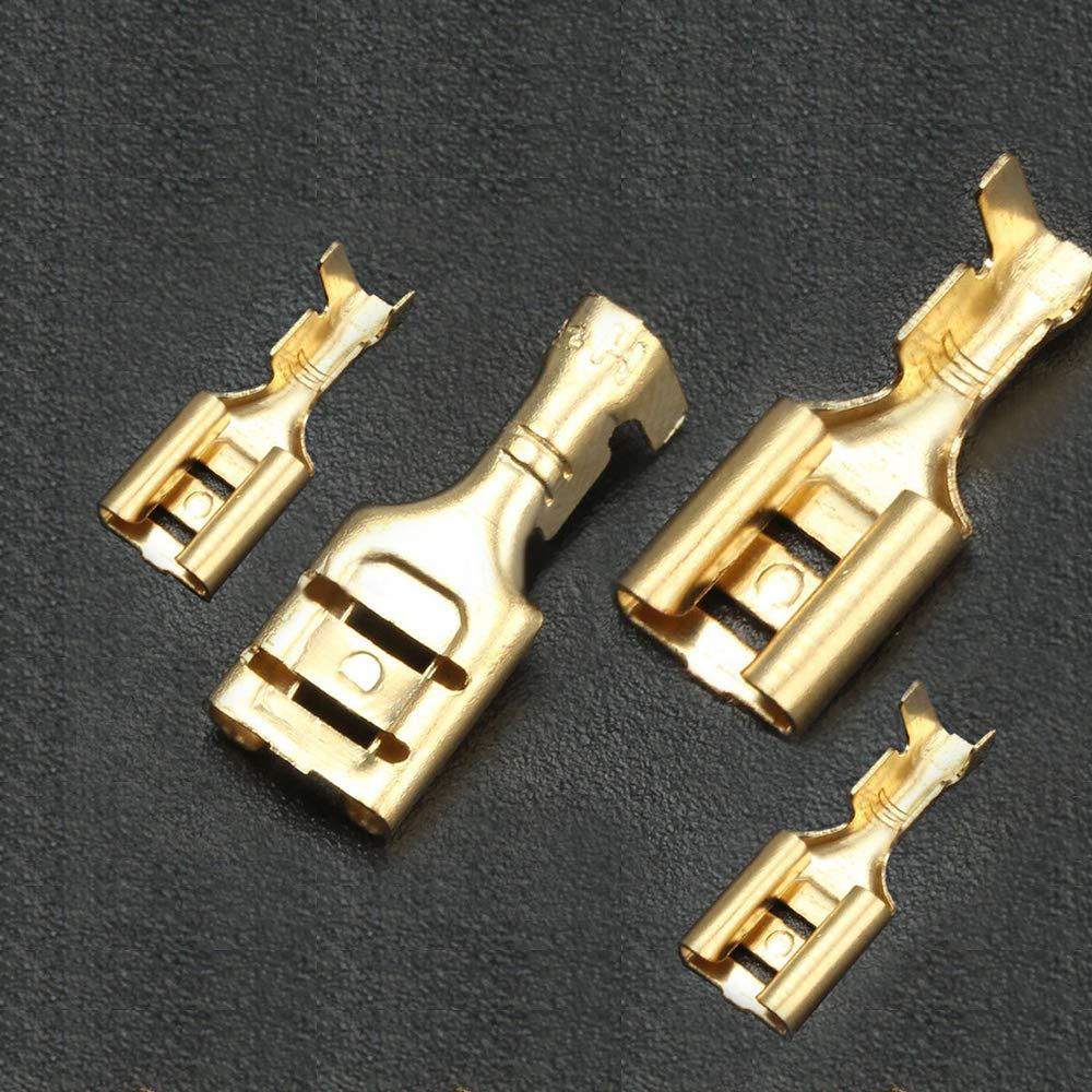YIXISI 300 Piezas 2.8mm//4.8mm//6.3mm Terminales El/éctricos de Crimpado Kit,Terminales El/éctricos de Crimpado Kit Para Conector de Cable