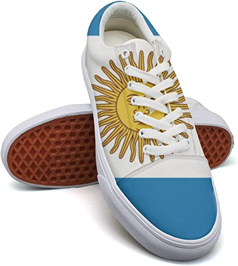 Ouxioaz - Zapatillas Deportivas de Lona con Bandera de Argentina para Mujer: Amazon.es: Deportes y aire libre