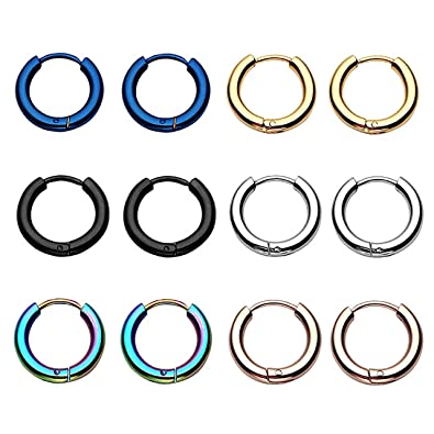 Amazon.com: Bopreina - 6 pares de aros de acero inoxidable ...