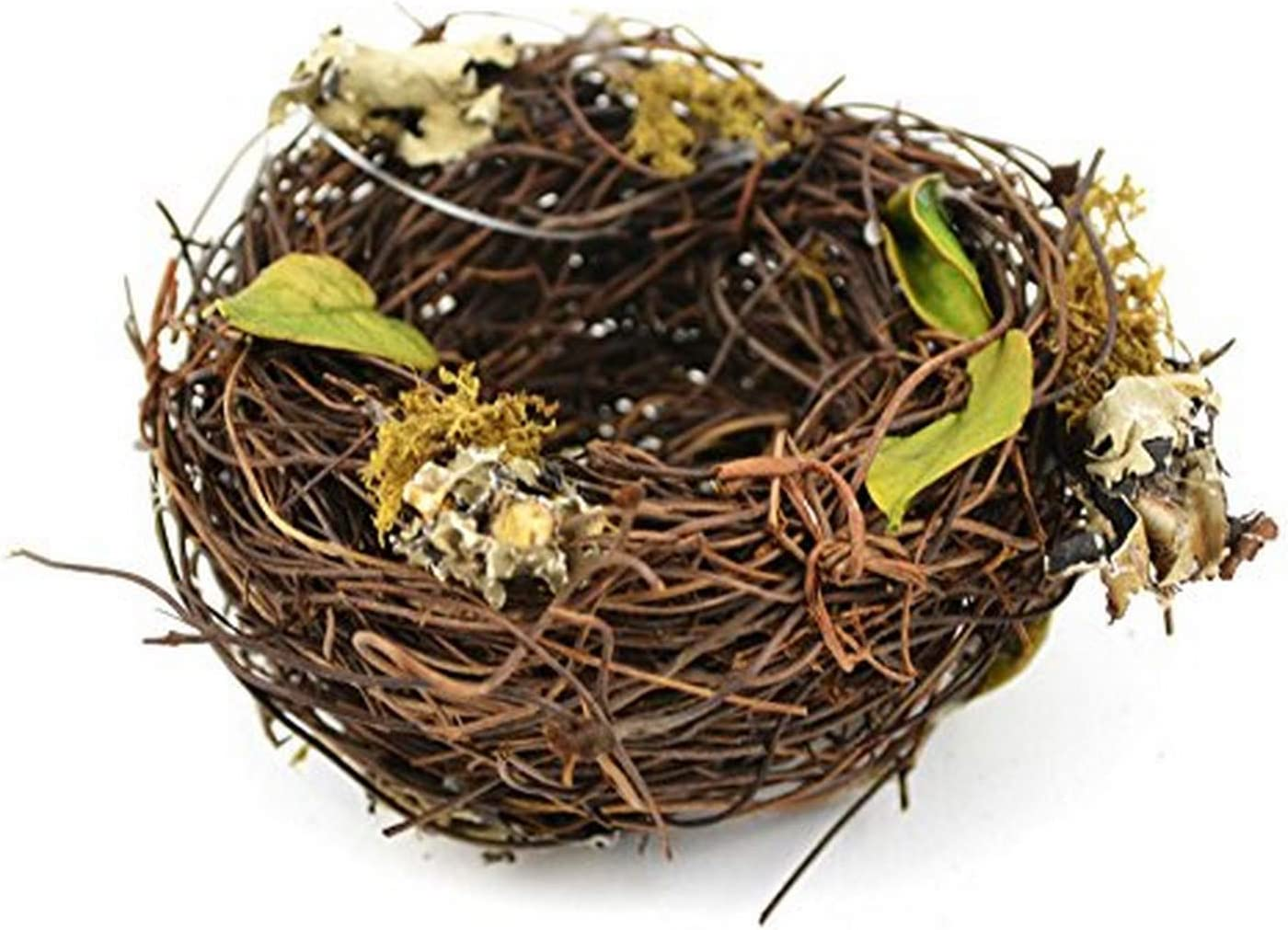 Touch of Nature Artificial Vine Nest 3 Inch with Leaves 1Pc