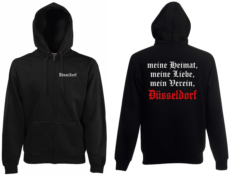 world-of-shirt Herren Kapuzenjacke D/üsseldorf Ultras meine Heimat