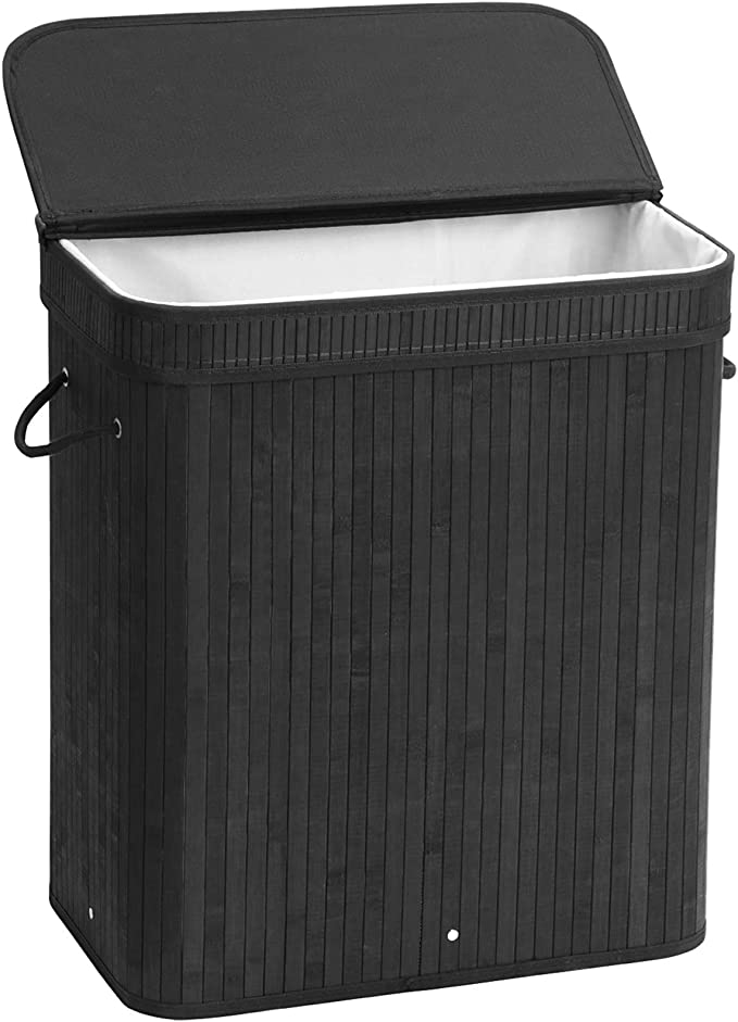 XIAKE Laundry Basket Brown 75L Collapsible Large Storage Bags with Reinforced Handle and Drawstring Closure for Bedroom Bathroom Clothes Toys