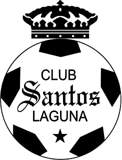 CLUB FUTBOL SANTOS LAGUNA CALCOMANIA BLANCA Vinyl decal white sticker 9 width by 10.5