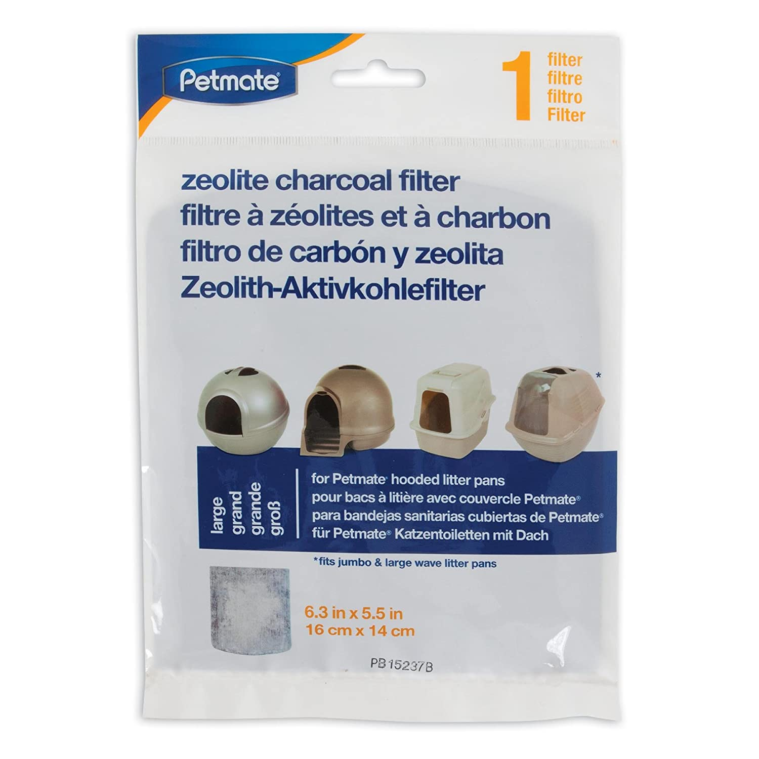 Amazon.com: Dosckocil (Petmate) CDS29202 Basic Cat Litter Box Zeolite Filter, Large: Pet Supplies