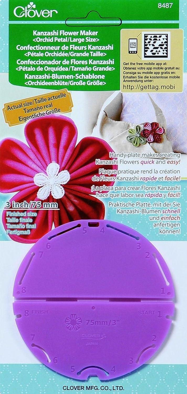 Clover Large Round Petal Kanzashi Flower Maker Pk  For Crafts Flower Making Tool