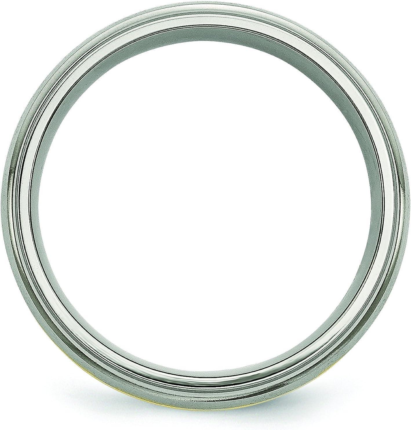Jewelry Pot Titanium 8mm Brushed Polished Engravable Band