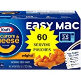 Kraft Easy Mac Microwavable Macaroni & Cheese (60 Serving Pouches) (60 Serving Pouches)