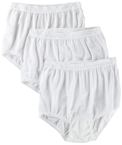 f01287ae25ff Carole 3-pk. Nylon Lace Trim Briefs 3945 at Amazon Women's Clothing store: