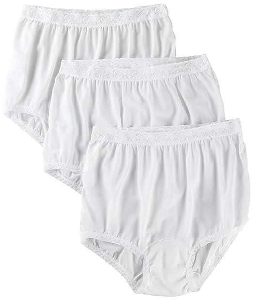 555a2e0ca59 Carole 3-pk. Nylon Lace Trim Briefs 3945 at Amazon Women s Clothing store