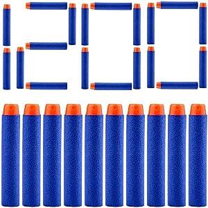 AKABELA (ASTM and CPC Certified   1200 Darts) Refill Darts 1200 PCS Bulk Bullets Foam Darts Pack Compatible with Nerf Guns N-Strike Elite Series Blaster Toy Guns Kids (Blue)