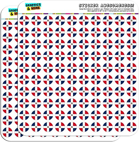 """Puerto Rico National Country Flag 0.5/"""" Scrapbooking Crafting Stickers"""