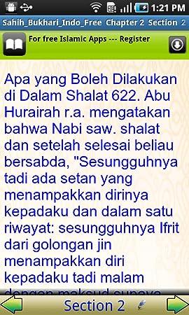 Amazon com: Sahih Bukhari Hadith In Indonesian_Demo-Android