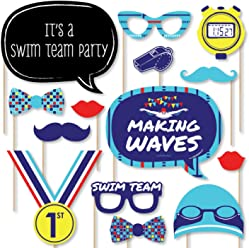 fd9657af73c Big Dot of Happiness Making Waves - Swim Team - Swimming Party Birthday  Party Photo Booth