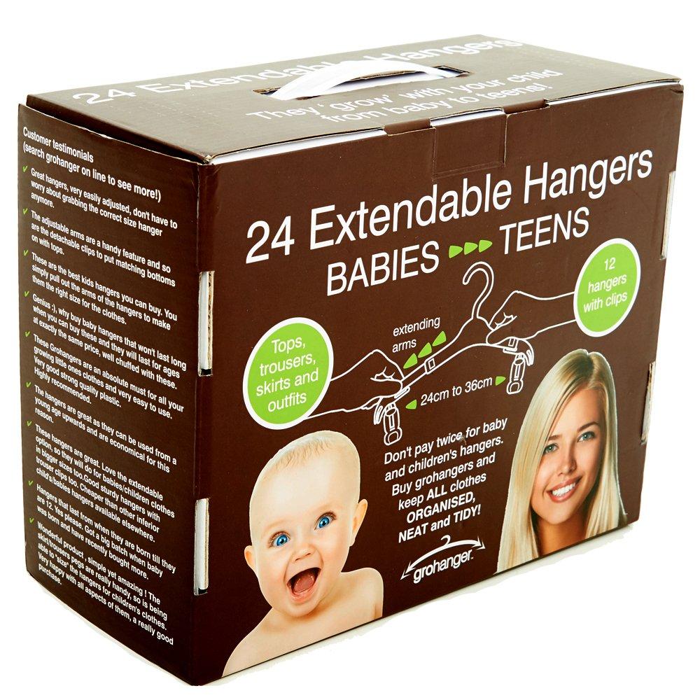 grohanger Extendable Kids Clothes Hangers (24)