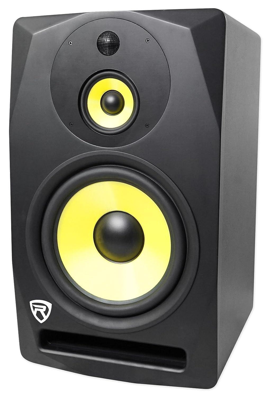 Rockville DPM10B 10 400 Watt Powered Active Floor/Stage Monitor 3-Way Speaker DPM10B FLOOR