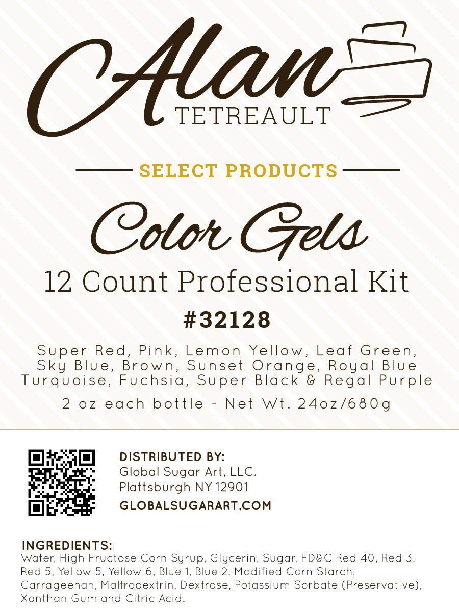 Food Coloring Kit, Premium Professional Twelve Colors 2 Ounce by Global Sugar Art by ALAN TETREAULT SELECT PRODUCTS (Image #2)