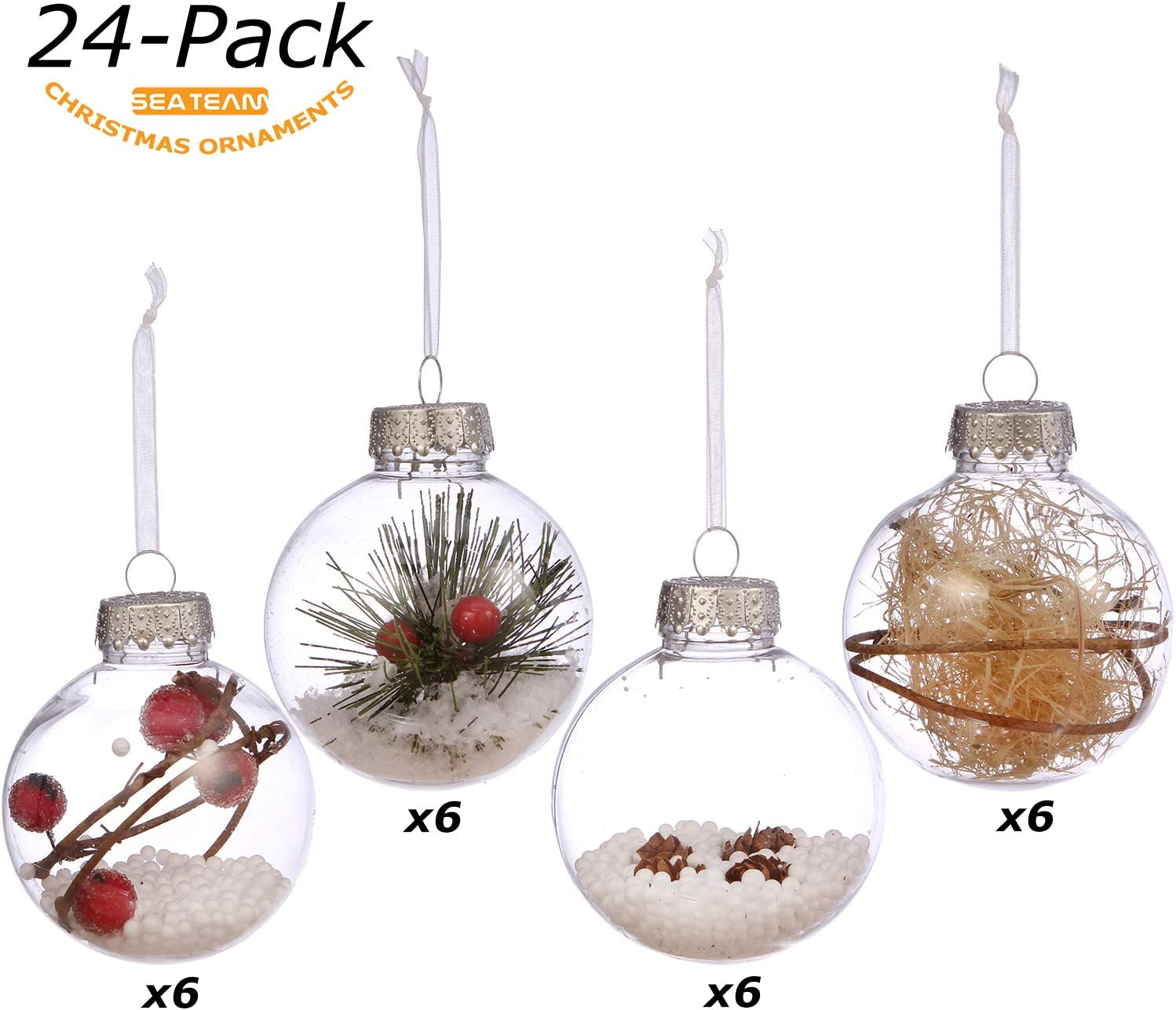 Christmas Tree Decoration 12 Pack 70mm Shatterproof Baubles