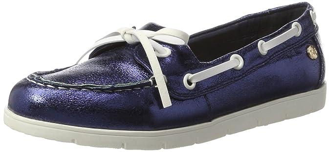 Xti Navy Metallic Ladies Shoes, Mocassins Femme, Bleu (Navy Navy), 38 EU