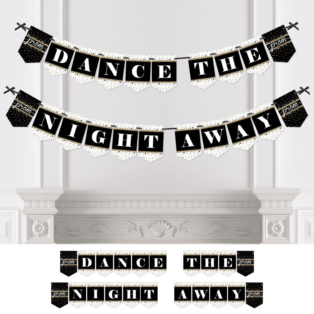 Big Dot of Happiness Prom - Prom Night Party Bunting Banner - Party Decorations - Dance The Night Away