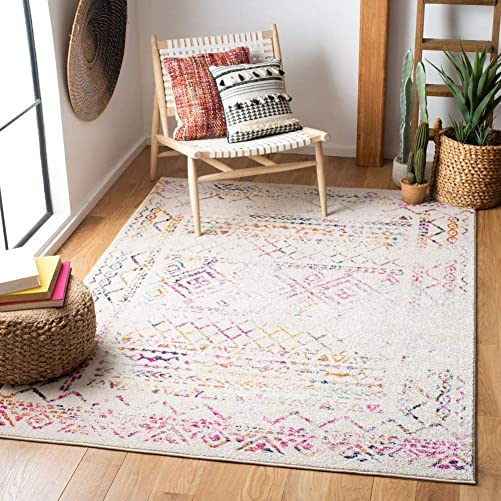 Safavieh Tulum Collection TUL268E Boho Moroccan Distressed Area Rug