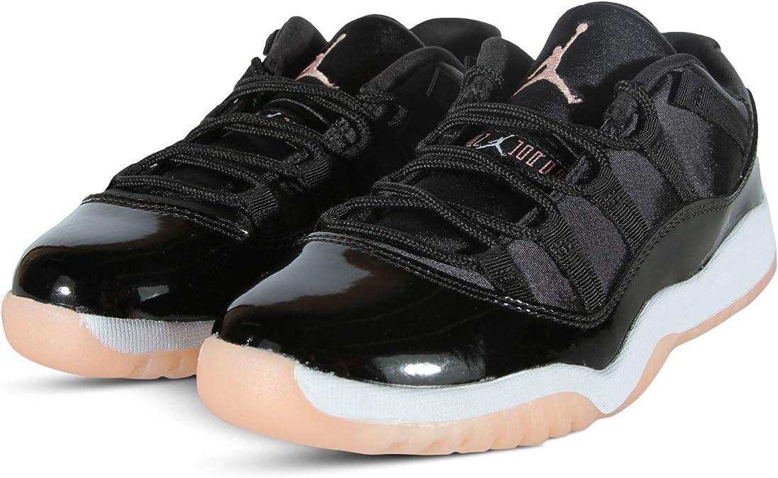 Jordan Nike 11 Retro Low GP Kids Black//Coral//White 580522-013