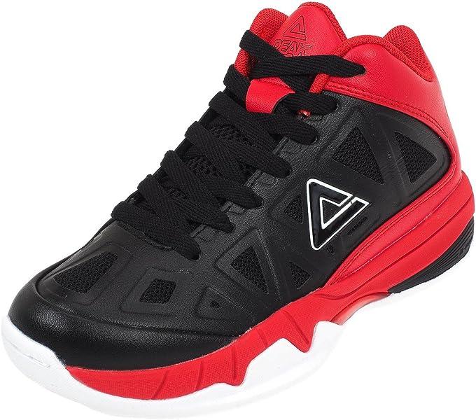 Peak - Zapatillas de Baloncesto para niño, Negro, 33: Amazon.es ...