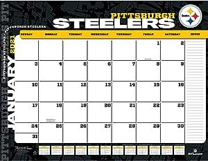 TURNER Sports Pittsburgh Steelers 2021 22X17 Desk Calendar (21998061549)