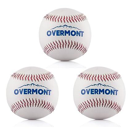 Overmont 3pics de Pelota de Beisbol sofbal Softball de Cuero ...