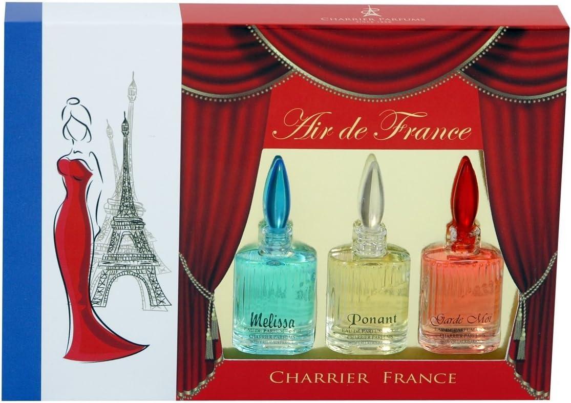 Charrier Parfums Air de France - Estuche de 3 Eau de Parfum en miniatura total 15 ml: Amazon.es: Belleza