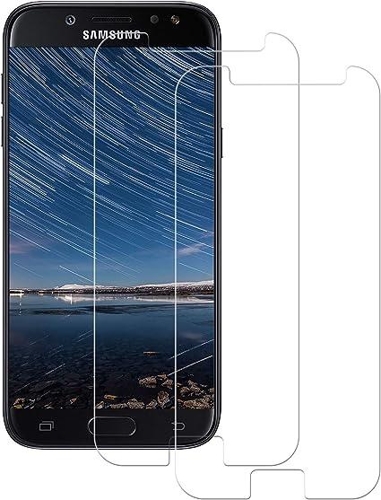 POOPHUNS Cristal Templado Samsung Galaxy J5 2017, 2-Unidades Protector de Pantalla Cristal Vidrio Templado Premium para Samsung Galaxy J5 2017 9H Vidrio Real No se despega uellas Dactilares Libre: Amazon.es: Electrónica