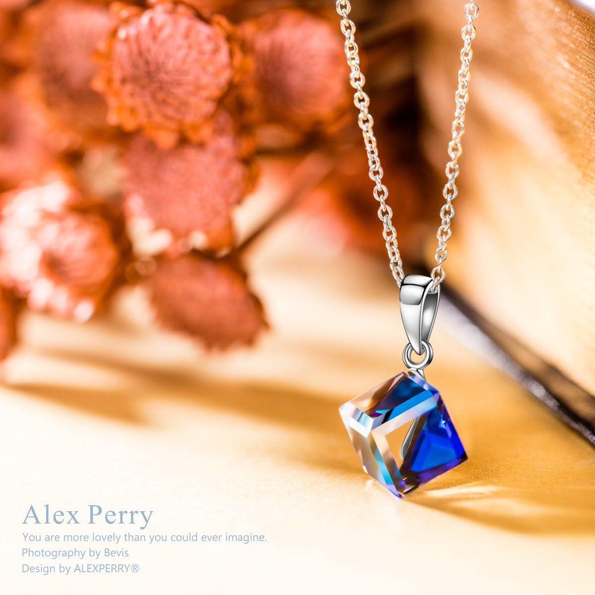 Cristal Aurora Borealis de Swarovski Alex Perry Cadeau de F/ête des M/ères le S/érie de la Belle Vie Argent Sterling 925 Bo/îte-cadeau Exquise Collier//Boucles doreilles pour Femmes