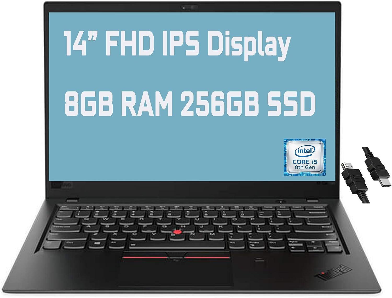 "2021 Flagship Lenovo ThinkPad X1 Carbon Gen 6 Business Laptop 14"" FHD IPS Display 8th Gen Intel 4-Core i5-8250U 8GB RAM 256GB SSD Fingerprint Backlit KB USB-C Dolby Win10 Pro + iCarp HDMI Cable"