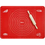Webake Baking Mat Extra Large Silicone Pastry Mat for Dough Rolling with Measurements, Non-Slip Cookie Pizza Pie Mat, Baking Sheet Liner Countertop Protector (70 x 50.5 cm)