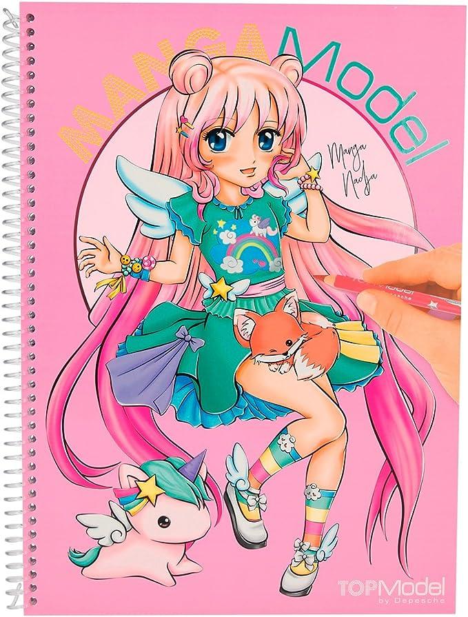 Topmodel 6581 001 Mangamodel Malbuch Mit 35 Blattern Zum Ausmalen 2 Seiten Zum Ausklappen 2 Stickerbogen Amazon De Spielzeug