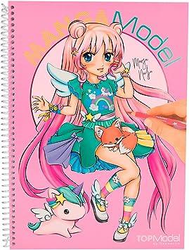 Topmodel Mangamodel 6581 001 Livre De Coloriage Avec 35 Feuilles A Colorier 2 Pages Depliantes 2 Feuilles D Autocollants Amazon Fr Jeux Et Jouets