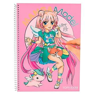 Topmodel 6581001 Mangamodel Malbuch Mit 35 Blättern Zum Ausmalen 2 Seiten Zum Ausklappen 2 Stickerbögen