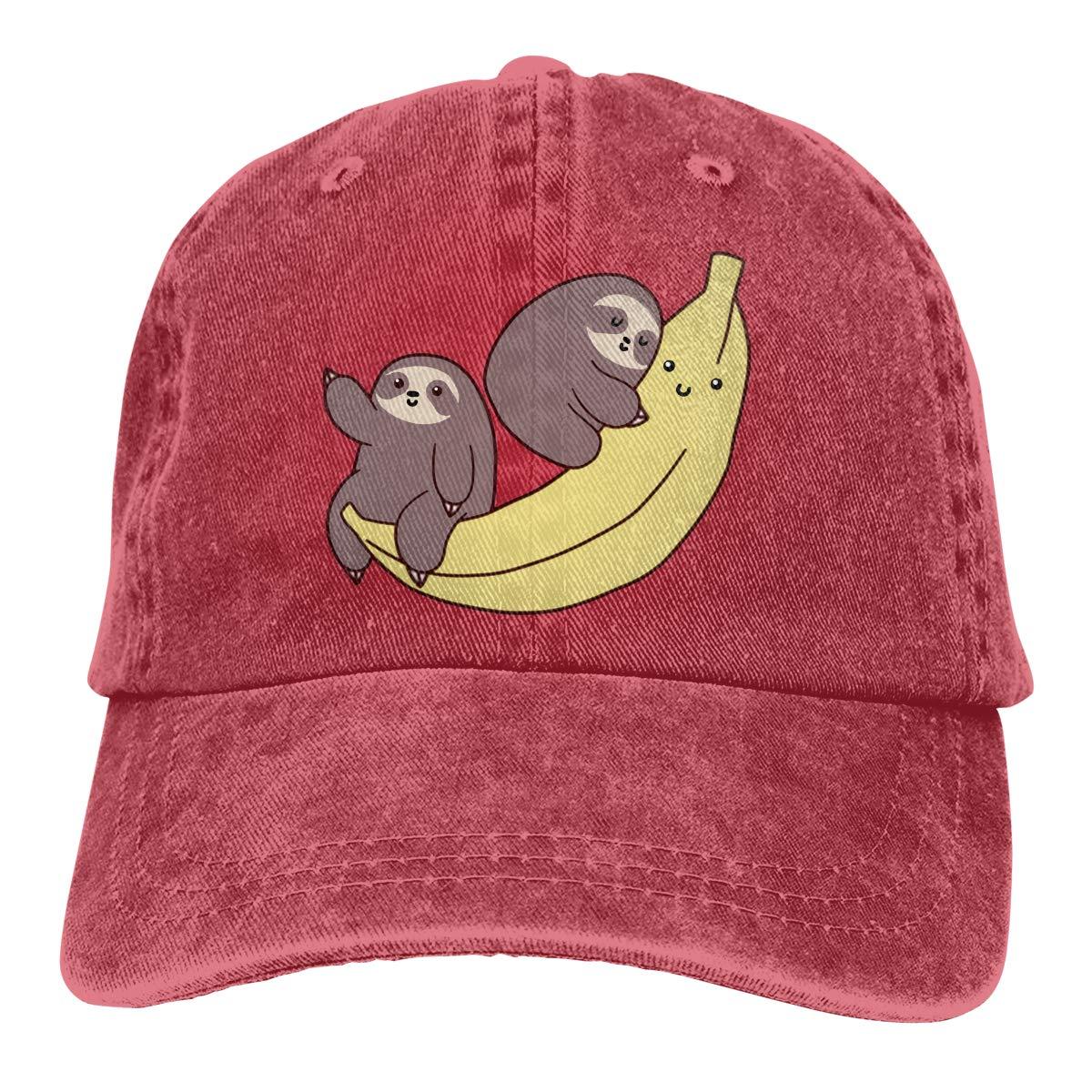 Sloth and Turtles Denim Baseball Caps Hat Adjustable Cotton Sport Strap Cap for Men Women JTRVW Cowboy Hats