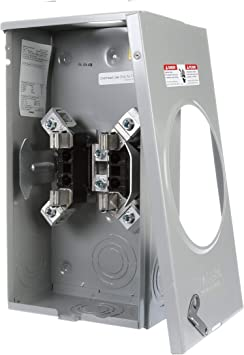 Siemens Suat317 0gf Meter Socket With 4 Jaw Ringless Cover And Overhead Feed 200 Amp Electrical Meter Sockets Amazon Com