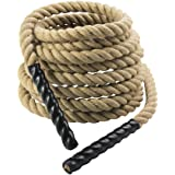 Gymenist Heavy Duty Workout Battle Rope For Exercsie Training, Material - Sisal
