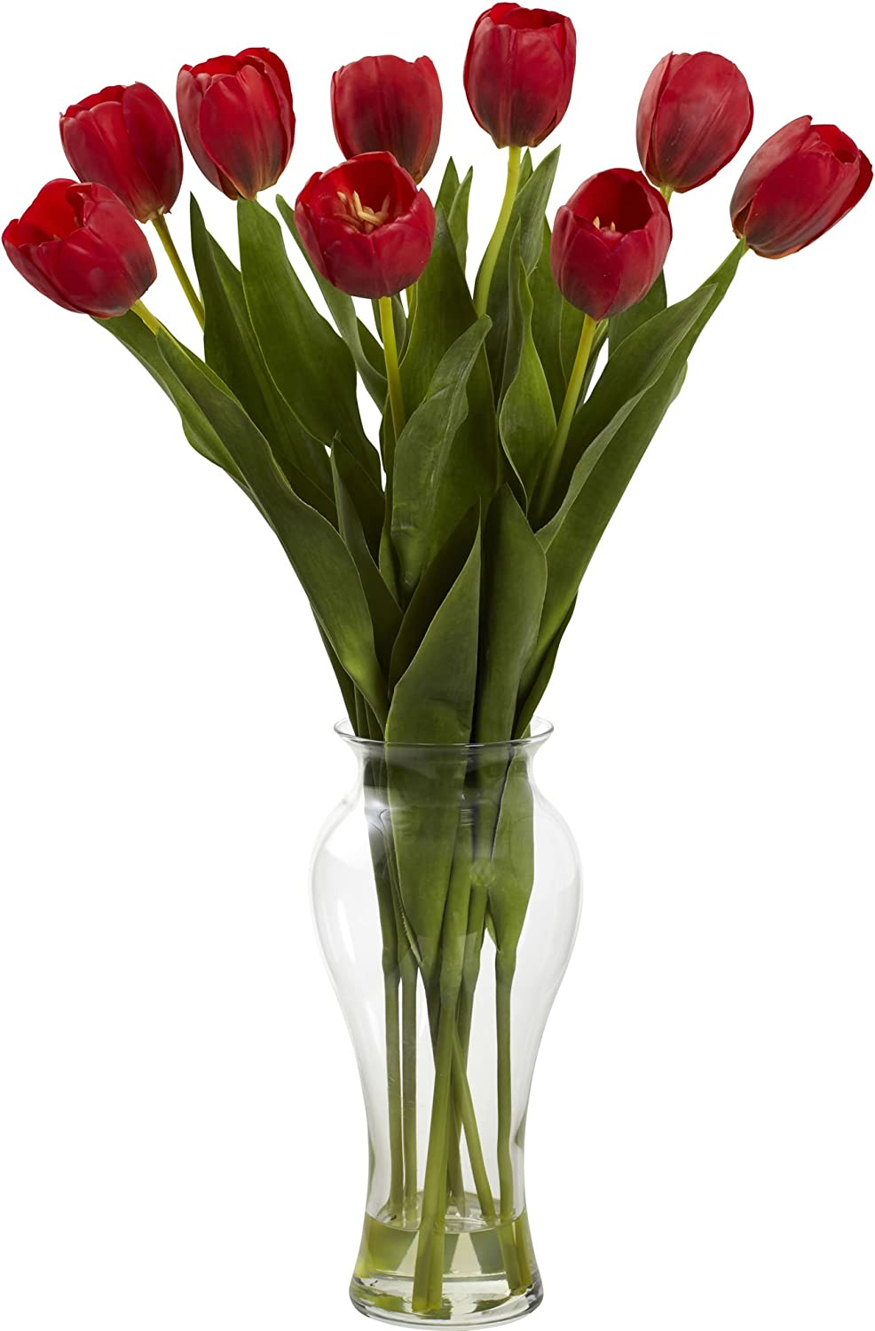 Faux and Artificial Tulip in Vase