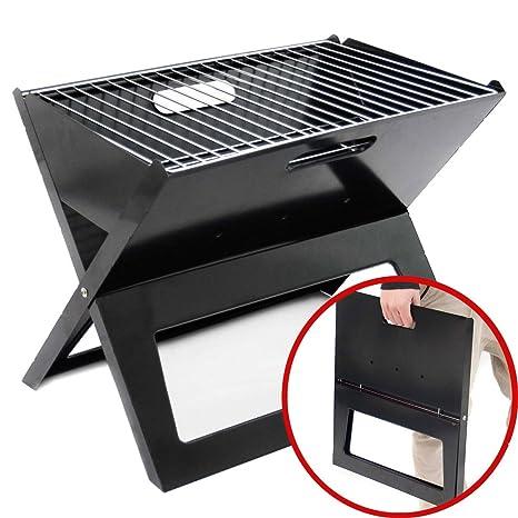 Parrilla plegable – plegable portátil BBQ Barbacoa plegable Carbón vegetal