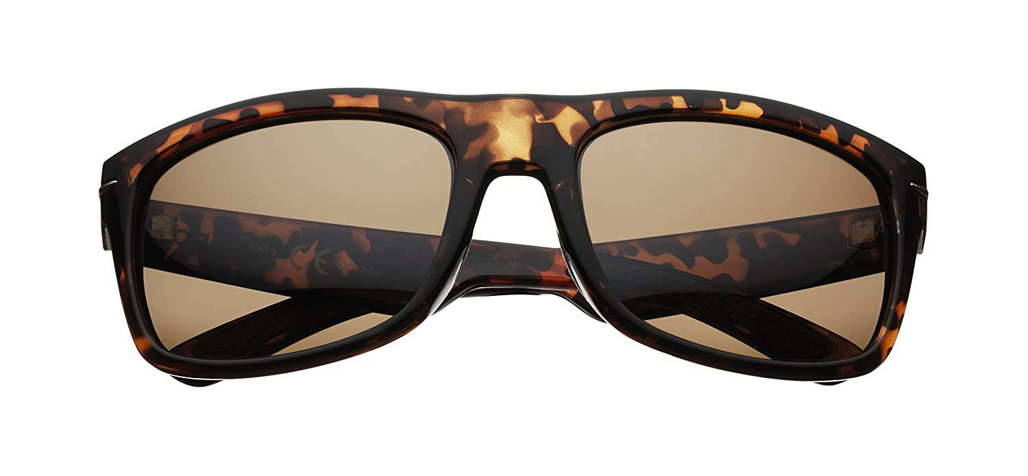 Zippo Polarized Brown Flash Mirror Lens Lunettes de Soleil Mixte, Demi Brown, M