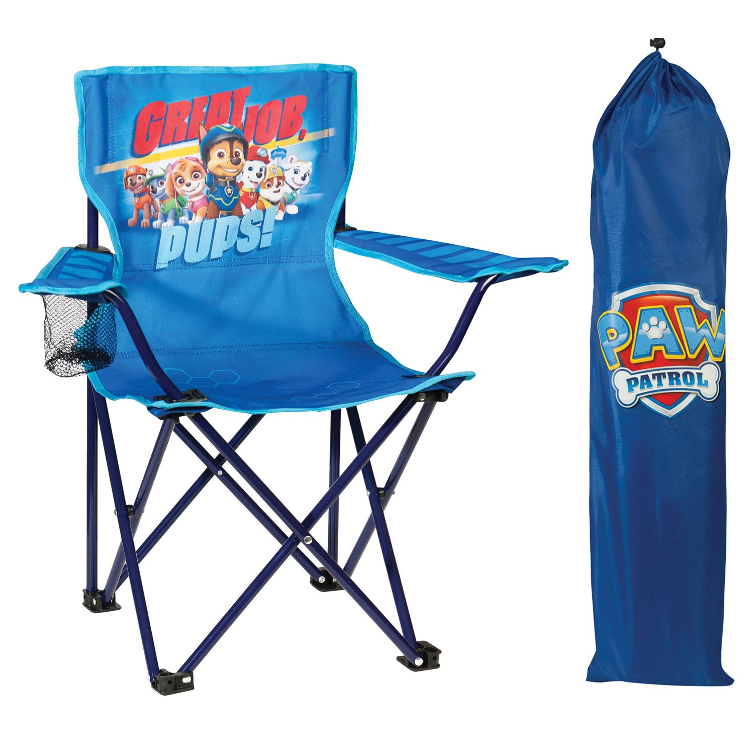 Nickelodeon Paw Patrol Fold N' Go Chair with Storage Bag, Blue by Nickelodeon