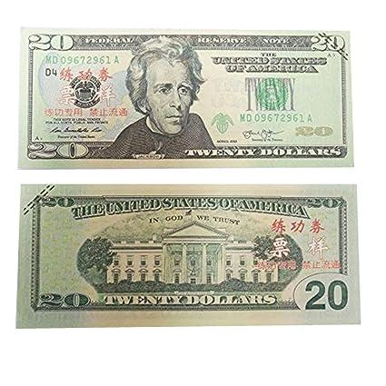 AL'IVER PLAY MONEY PROP MONEY $2000 FAKE MONEY COPY MONEY Realistic Double  Sided Money Stack 100 $20 Bills FULL PRINT