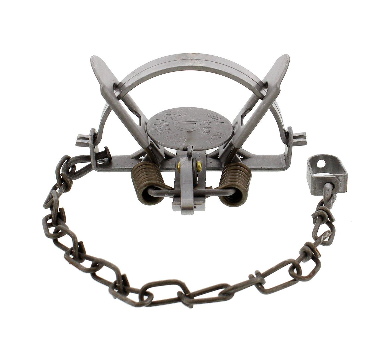 "Redneck Convent Duke Coon Trap 1-Pack – #1-1/2 CS Model 0470 Coil Spring Leg Trap w/ 4.75"" Inch Jaw Spread – Raccoon, Nutria, Fox, Mink"
