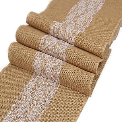 12 x 108 Recorte para la decoración de la boda del bebé nupcial pulgadas arpillera corredor