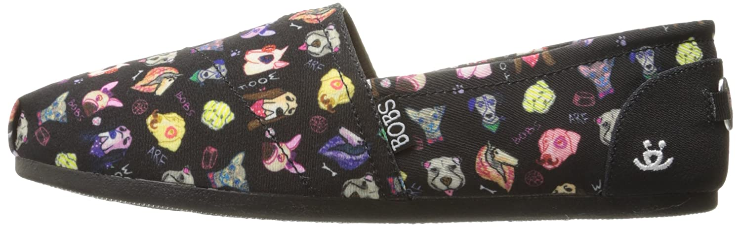 BOBS from from from Skechers Woherren BOBS Plush-Posh Pup Flat schwarz 5 M US 636bf4