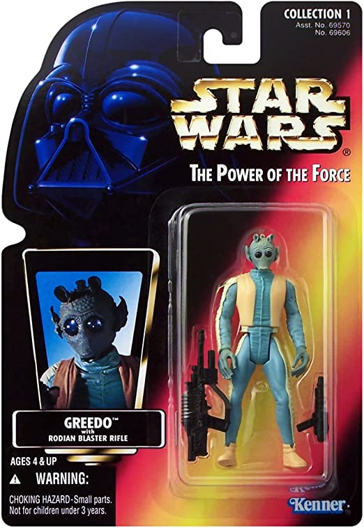 1996 Kenner Star Wars POTF Red Card Greedo Action Figure Neuf