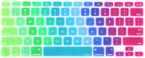 MOSISO Pattern Keyboard Cover Compatible with MacBook Pro 13/15 inch(with/Without Retina Display,2015 or Older Version),Older MacBook Air 13 inch (A1466/A1369,Release 2010-2017), Blue & Pink