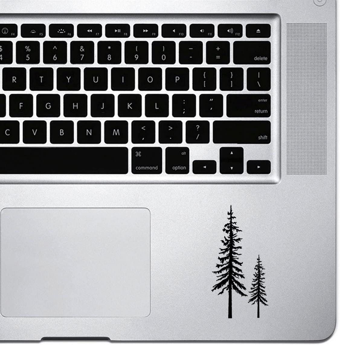 StickAny Palm Series Redwood Trees Sticker for MacBook Pro, Chromebook, and Laptops (Black)